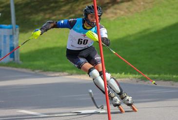 Ikšķilē aizvadīts Latvijas čempionāts skrituļslalomā